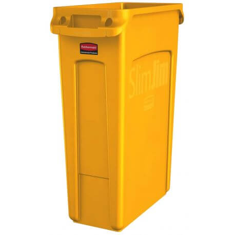 Slim Jim poubelle 87 litres rubbermaid jaune